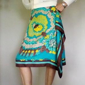 BCBG Max Azria Silk Skirt